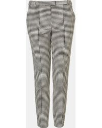 Topshop Houndstooth Cigarette Pants white - Lyst