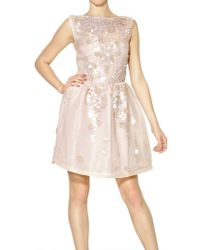 Blugirl Blumarine Sequins On Techno Mesh Dress - Lyst