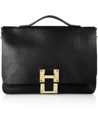 Sophie Hulme Leather Satchel - Lyst