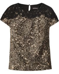 Antik Batik Ricci Lacetrimmed Sequined Top - Lyst