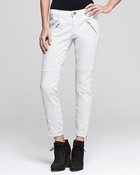 Ash - Currentelliott Jeans The Moto Stiletto Low Rise in Stone Gray Wash - Lyst