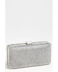 Sondra Roberts Crystal Mesh Box Clutch - Metallic - Lyst