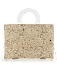 Charlotte Olympia Zehava Transparent Handbag transparent - Lyst
