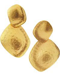 Kenneth Jay Lane Large Hammereddrop Earrings - Lyst