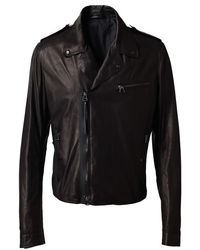Lanvin Soft Leather Biker Jacket - Lyst