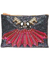 Mawi - Glitter with Crystals Pouch - Lyst