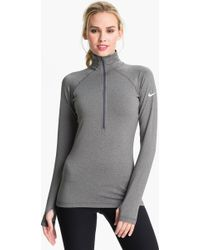 Nike Pro Hyperwarm Half Zip Top - Lyst