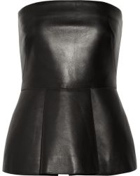 Valentino Leather Bustier - Lyst