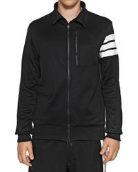 Y-3 Techno Cotton Jersey Zipped Sweatshirt - Lyst