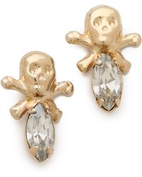 Bing Bang Memento Mori Skull Stud Earrings - Lyst