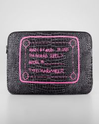 Marc By Marc Jacobs - Crocodileprint Neoprene Computer Case 15 - Lyst