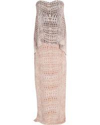 Willow Layered Croc Strapless Dress - Lyst
