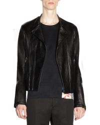 Balenciaga Tonal Hardware Leather Jacket - Lyst