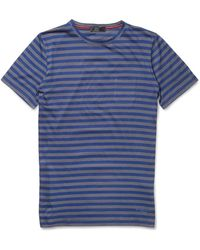 Burberry Prorsum Striped Cottonjersey Tshirt - Lyst