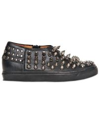 Jeffrey Campbell Piranha Spiked Leather Sneakers - Lyst