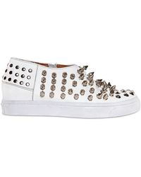 Jeffrey Campbell - Piranha Spiked Leather Sneakers - Lyst