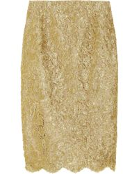 Michael Kors Metallic Soutache Lace Skirt - Lyst