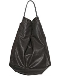 Pauric Sweeney - Hbox Perforated Leather Top Handle - Lyst