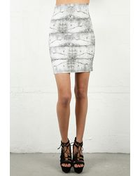 Pleasure Doing Business 5 Band Printed Brick Skirt - Lyst
