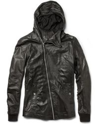 Rick Owens Bullet Hooded Leather Jacket - Lyst