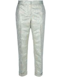 Tory Burch Brocade Print Trouser - Lyst