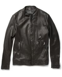 Dolce & Gabbana Zipped Leather Jacket - Lyst