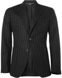 Dolce & Gabbana Unstructured Chalk Stripe Woolblend Suit Jacket - Lyst