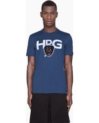 Givenchy Navy Blue Embroidered Dogs Head Tshirt - Lyst