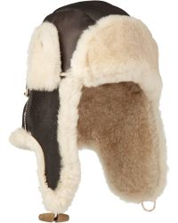 Paul Smith Shearling Hat - Lyst