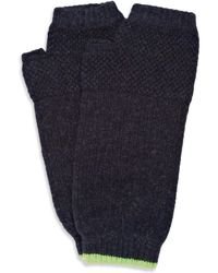 Paul Smith Moss stitch Wool Fingerless Gloves - Lyst