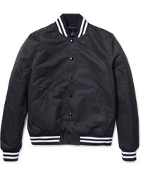 Sandro Slim-fit Quilted Varsity Jacket - Lyst