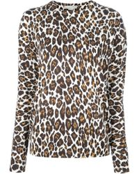 Stella McCartney Leopard Print Sweater - Lyst