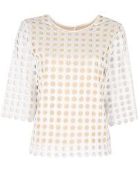 Chloé Slim Perforated Shirt - Lyst