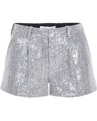 Diane Von Furstenberg Naples Crystal Tweed Shorts - Lyst