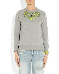 Matthew Williamson - Embellished Cottonjersey Sweatshirt - Lyst
