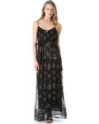 Twelfth Street Cynthia Vincent - Embroidered Maxi Dress - Lyst