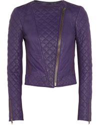 Catherine Malandrino Quilted Leather and Stretchponte Jacket - Lyst