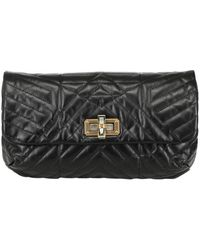 Lanvin Happy Poppy Quilted Leather Shoulder Bag - Lyst