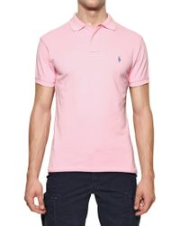 Ralph Lauren Blue Label - Cotton Piquet Logo Slim Fit Polo - Lyst
