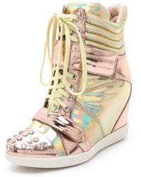 Boutique 9 - Nevan Wedge Splatter Sneakers - Lyst