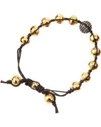 Tai - Golden Hammered Bead Bracelet - Lyst