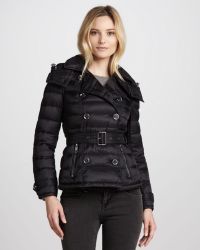 Burberry Brit Lightweight Doublebreasted Puffer Jacket - Lyst