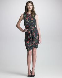 McQ by Alexander McQueen Womens Printed Knothem Dress - Lyst