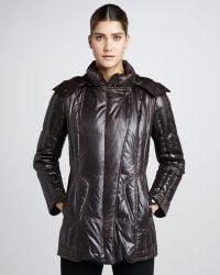Rainforest - Faux Leather Puffer Coat - Lyst