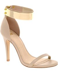 Asos Hong Kong Heeled Sandals with Metal Trim - Lyst