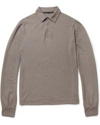 Slowear - Zanone Longsleeved Cotton Polo Shirt - Lyst