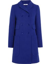 Carven Doublebreasted Cottontwill Coat - Lyst