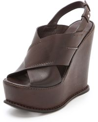 CoSTUME NATIONAL - Wedge Sandals - Lyst