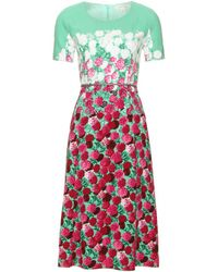 Marc By Marc Jacobs Floral Print Midi Length Dress - Lyst