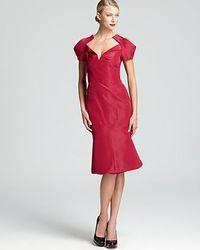 Zac Posen Structured Dress Flared Skirt - Lyst